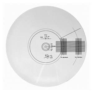Protraktor/stroboskop skiva