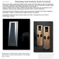 Anaysis Audio, AudiaZ, EAR, AVID - demodag
