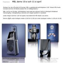 MBL Demo - 116F & Noble Line