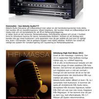 beRÖRande nyheter från Akkelis Audio Nr 4 - 2011