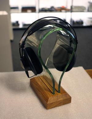 Hörlursställ - Trä/transparent