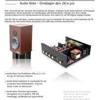 Audio Note på Göteborgsbesök